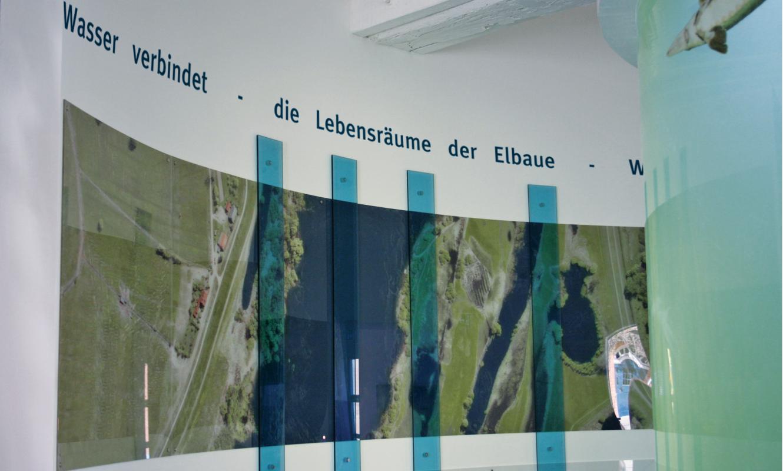 Überflutungsmodell interaktives Ausstellungsmodul