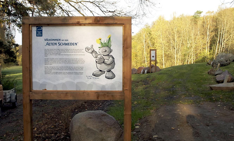 Findlingsring alter Schwede Eingang
