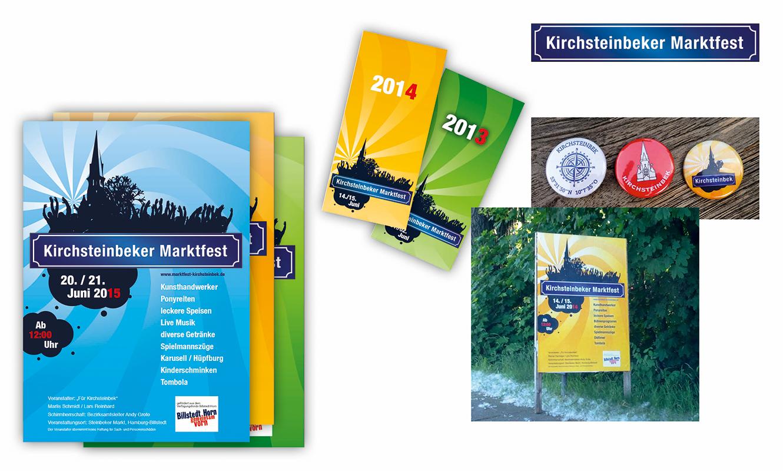 Plakate Flyer Marktfest Kirchsteinbek