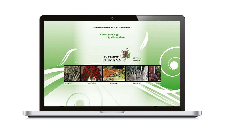 Blumenhaus Reimann Internetseite