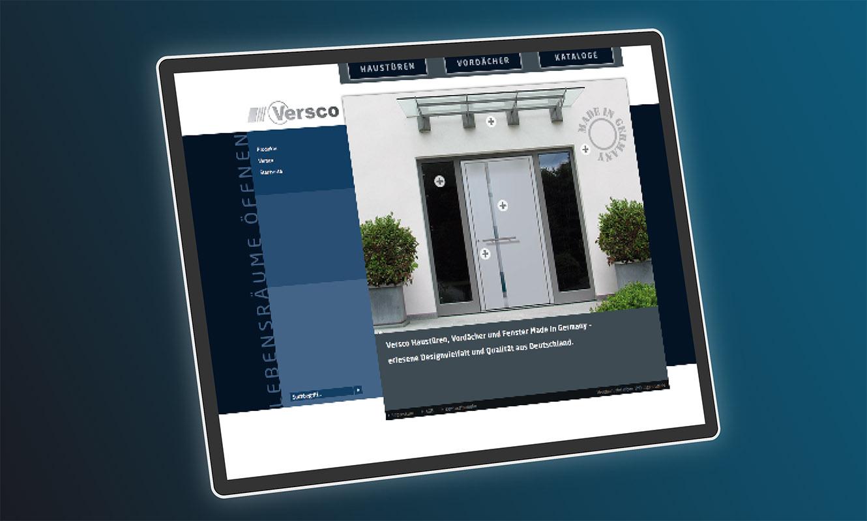 Versco Internetseite